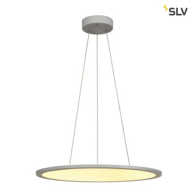 LED PANEL ROUND, pendant version, silver-grey, 338 LED, 39,8W, dimmable, 2700K