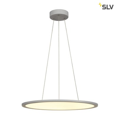 LED PANEL ROUND, pendant version, silver-grey, 338 LED, 40W, dimmable, 3000K
