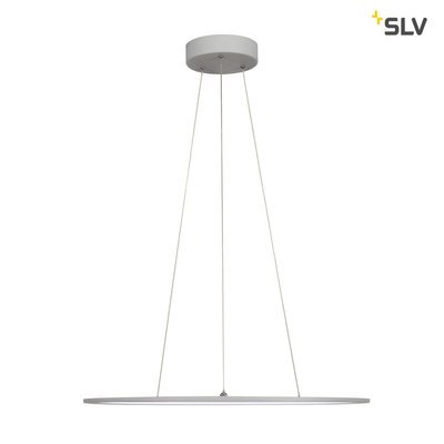 LED PANEL ROUND, pendant version, silver-grey, 338 LED, 40W, dimmable, 4000K
