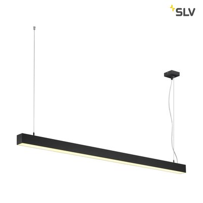 Q-LINE DALI SINGLE LED, pendant, dimmable, 1500mm, black