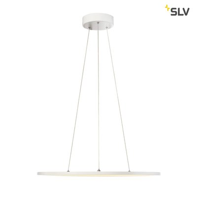 LED PANEL ROUND, pendant version, matt white, 338 LED, 40W, dimmable, 2700K
