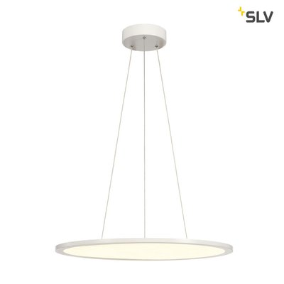 LED PANEL ROUND, pendant version, matt white, 338 LED, 40W, dimmable, 3000K