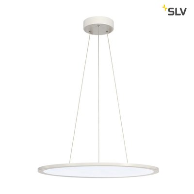 LED PANEL ROUND, pendant version, matt white, 338 LED, 40W, dimmable, 4000K